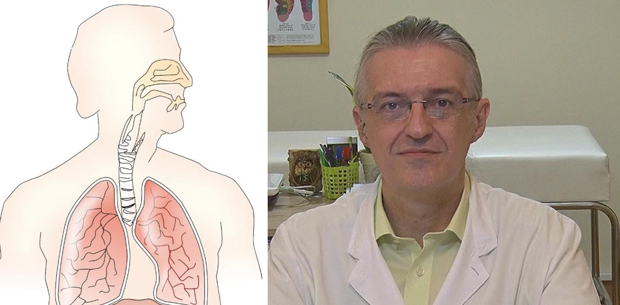 Θεόδωρος Γκατζούνης στο ιατρείο του όπου εφαρμόζει το πρωτόκολλο αντιμετώπισης σε ασθενείς με αλλεργική ρινίτιδα